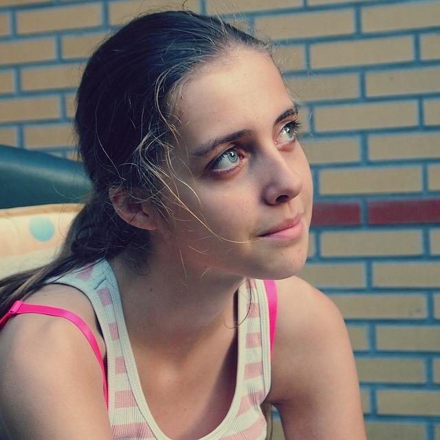Girl teen smile, people.