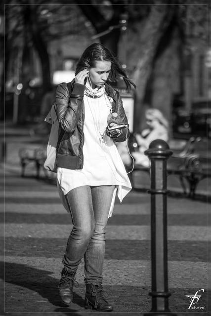 Girl woman street life, people.