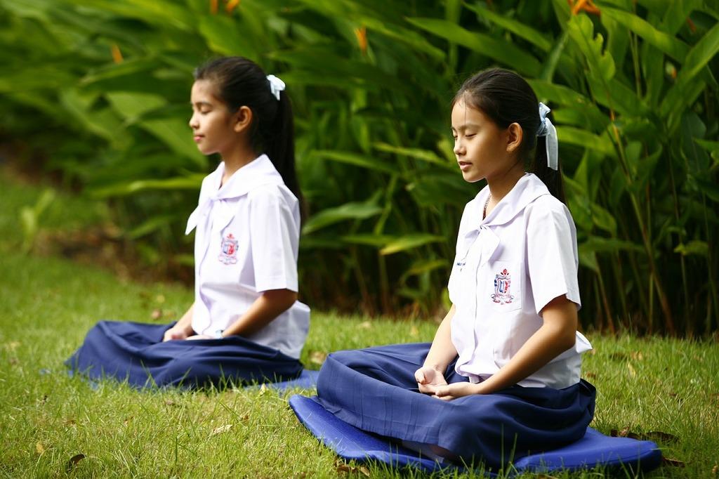 Girls buddhism meditation, religion.