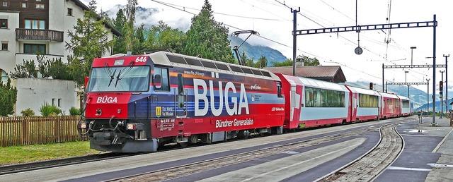 Glacier express rhaetian railways engadin.