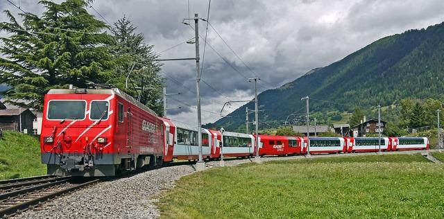 Glacier express switzerland valais.