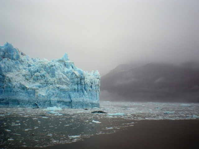 Glacier ice iceberg, nature landscapes.