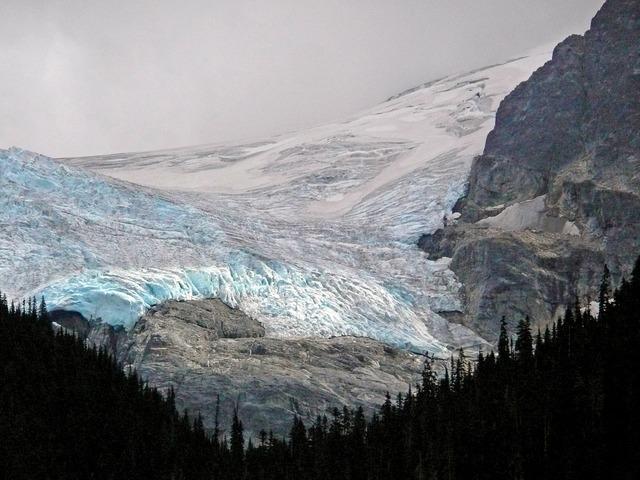 Glacier ice mountains.