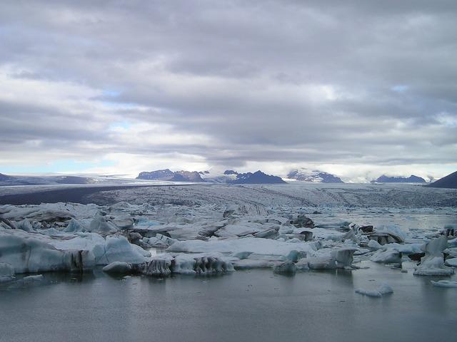 Glacier sea iceberg.