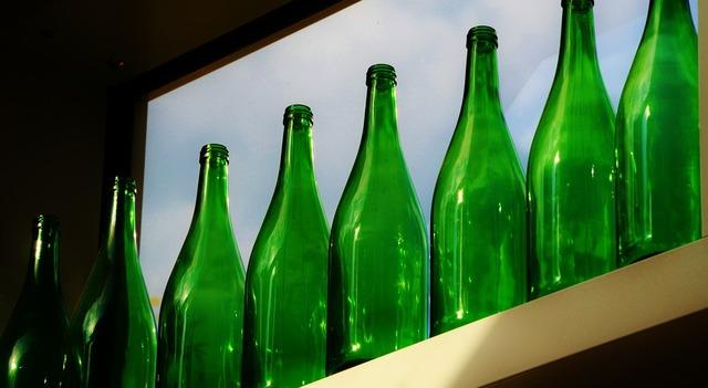 Glass bottles bottles wine bottles.