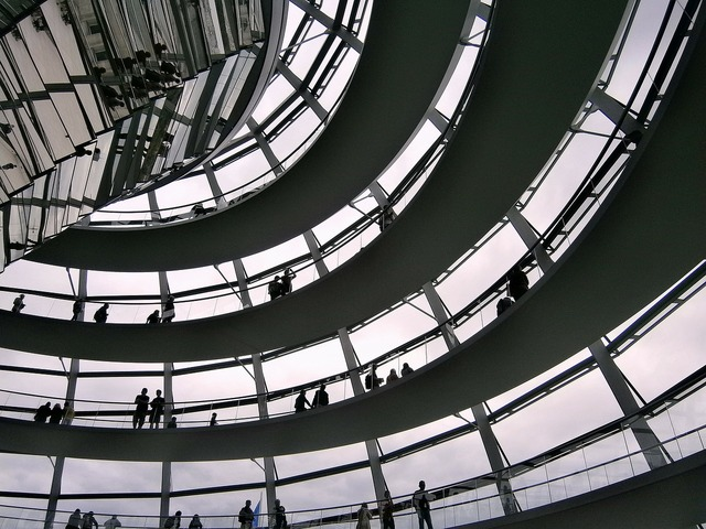 Glass dome berlin reichstag, architecture buildings.
