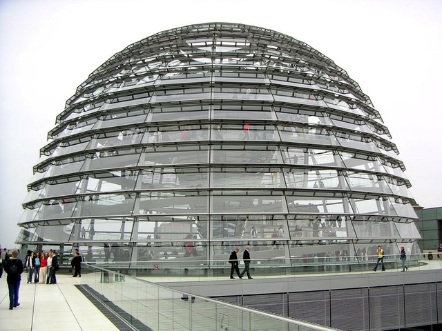 Glass dome reichstag dome.