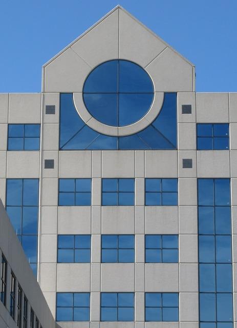Glass facade architecture window, architecture buildings.