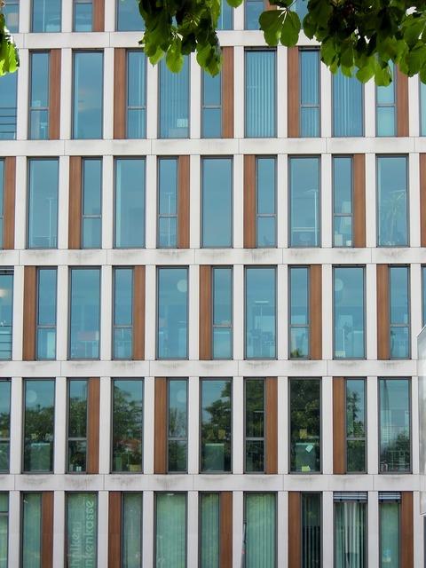 Glass facade window architecture, architecture buildings.