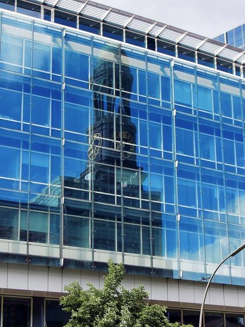 Glass facade window hamburg, architecture buildings.