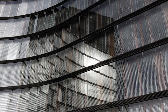 Glass glass facade office building, business finance.