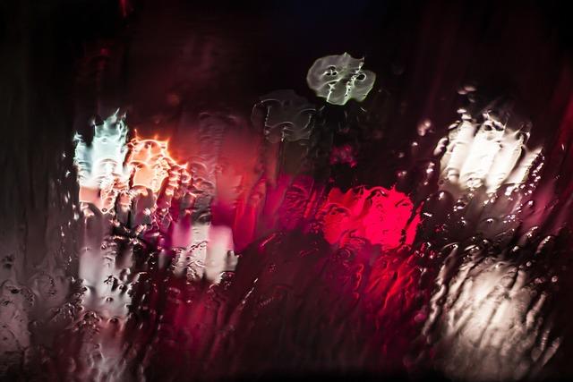 Glass rain water.