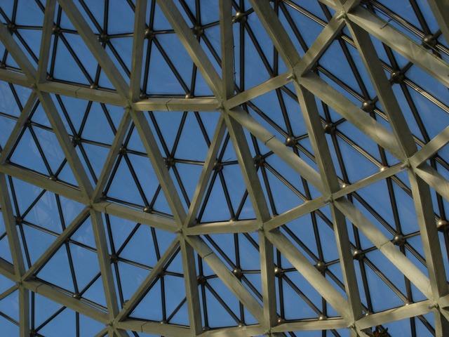 Glass roof botanical garden building, architecture buildings.