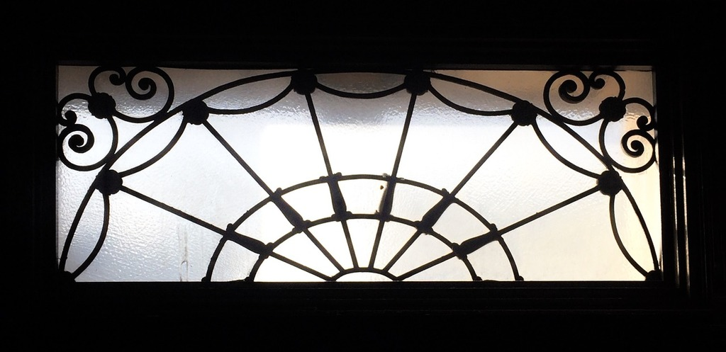 Glass transom window, architecture buildings.
