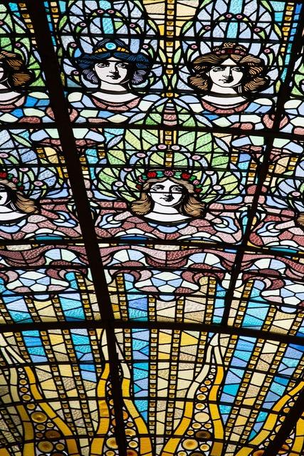 Glass window fun barcelona, architecture buildings.