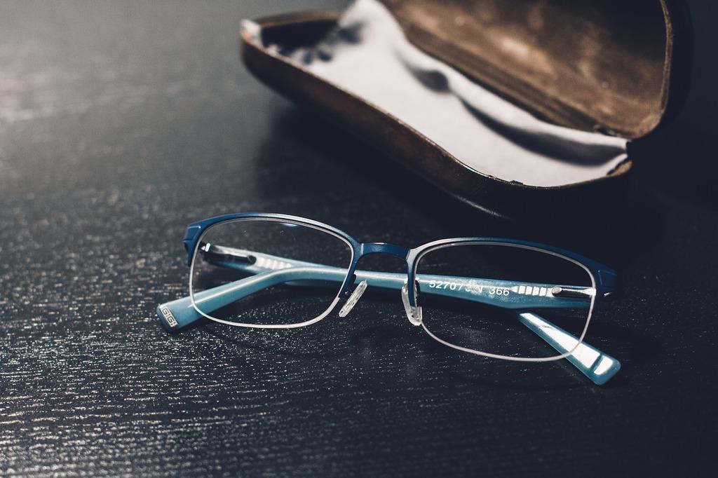 glasses desk cover business finance picryl
