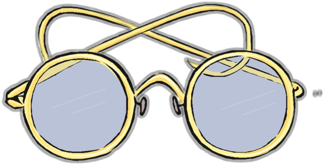 Glasses round vintage, beauty fashion.