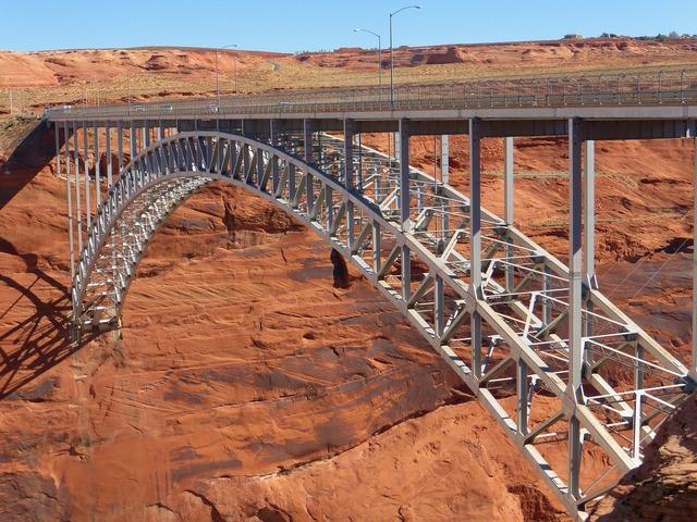 Glen canyon usa bridge.