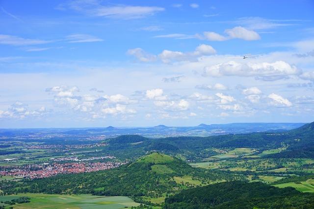 Glider pilot swabian alb weilheim at teck, nature landscapes.