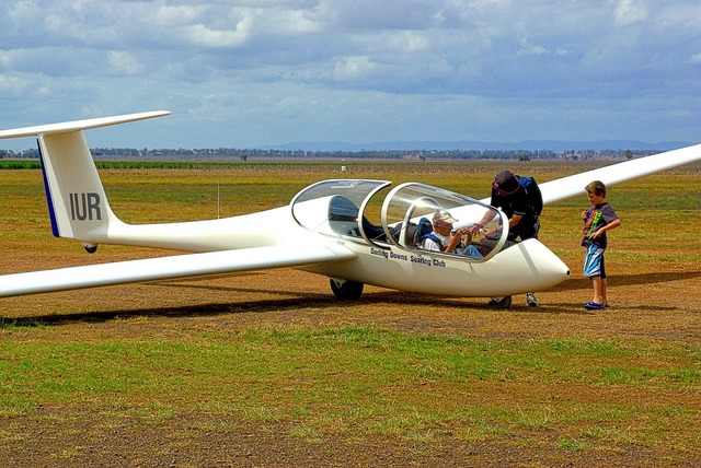 Glider sailplane aviation.