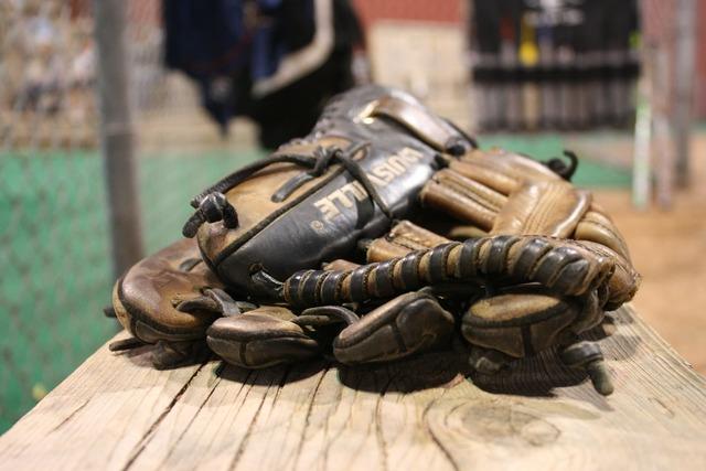 Gloves baseball back-catcher, sports.