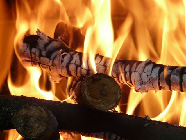 Glow branch fire.