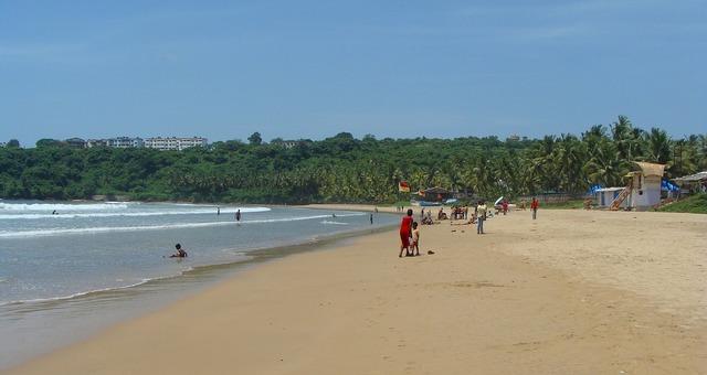 Goa bogmalo beach india, travel vacation.