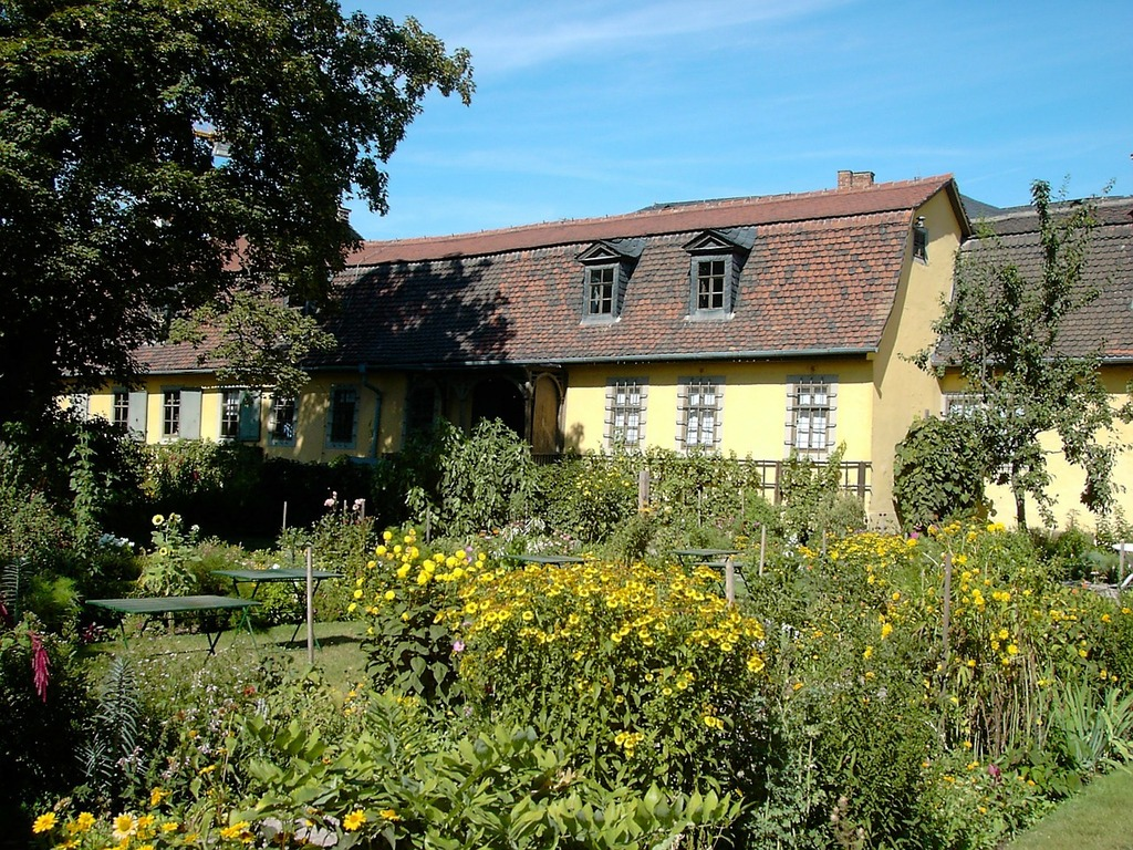 Goethe garden weimar thuringia germany.