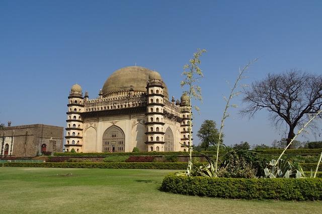 Gol gumbaz mausoleum monument, architecture buildings.