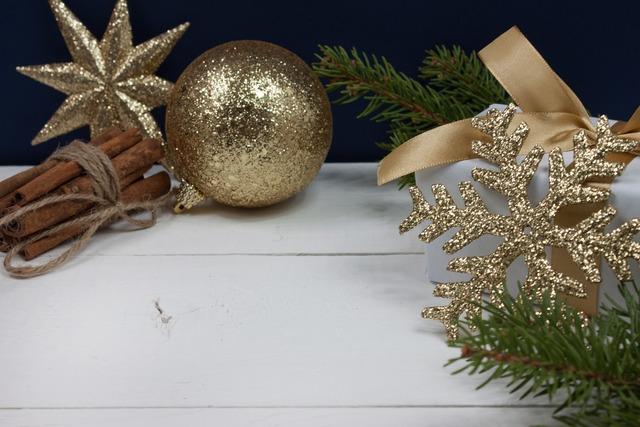 Gold christmas gold snowflake gold star.