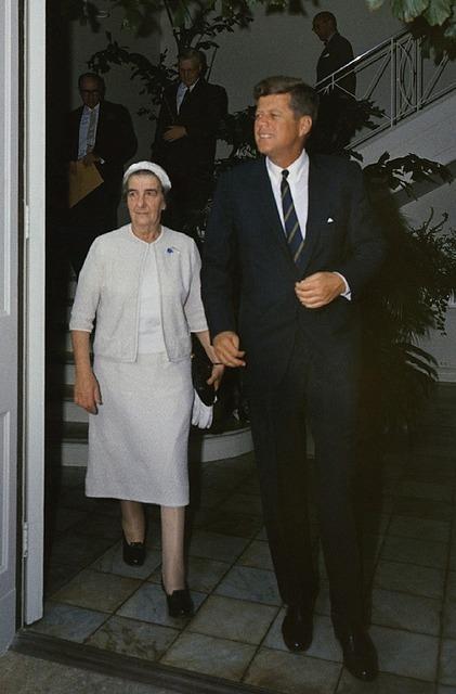 Golda meir president john f kennedy american.