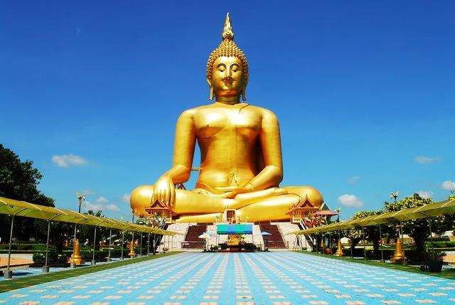 Golden buddha image buddhism, religion.