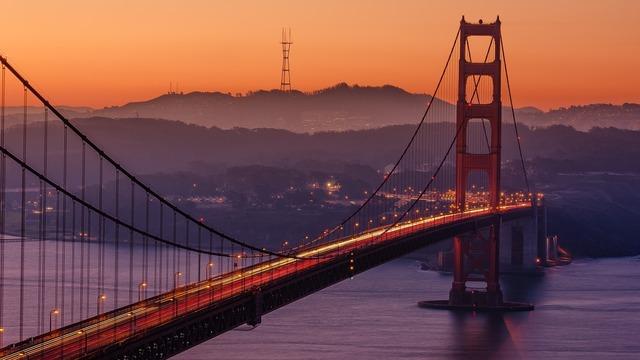 Golden gate bridge san francisco bay, places monuments.