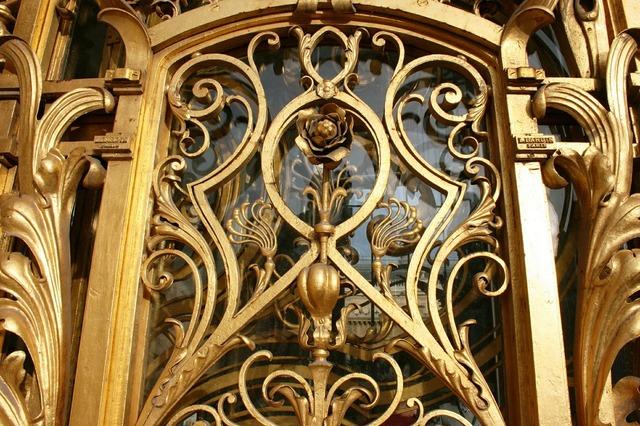 Golden gate golden flower art nouveau.