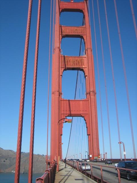 Golden gate san francisco california, transportation traffic.