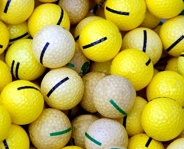 Golf balls practice balls, sports.