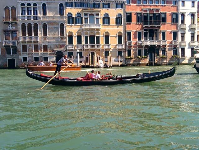 Gondola venice river.