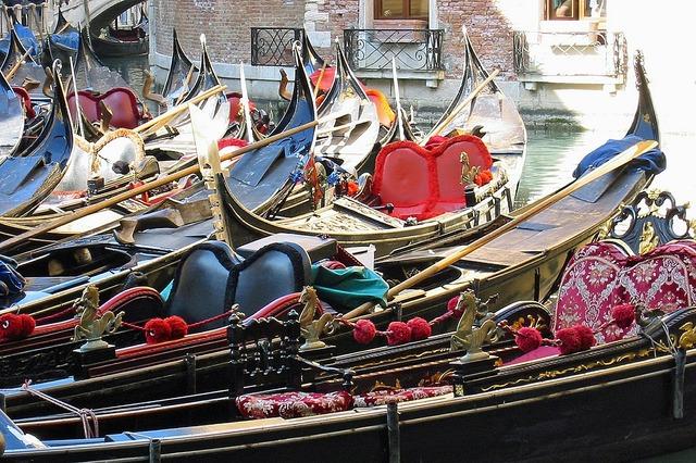 Gondolas italy venice.