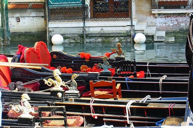 Gondolas venice italy.