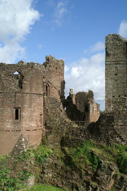 Goodrich castle england castle, architecture buildings.