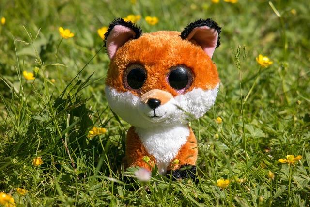 Googley bear stuffed animal soft toy.