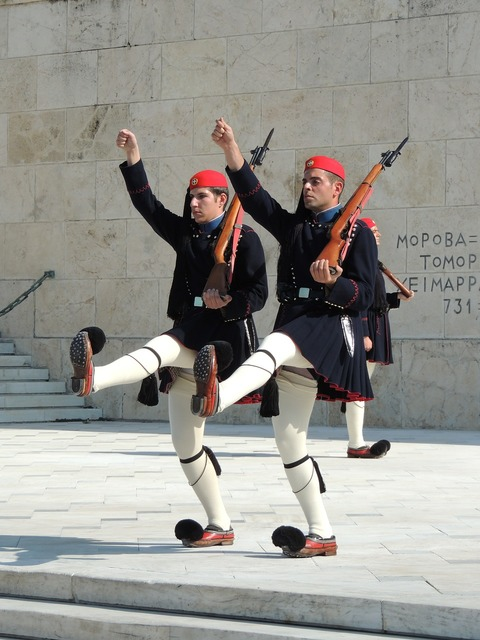 Goose-step residential guard athens.