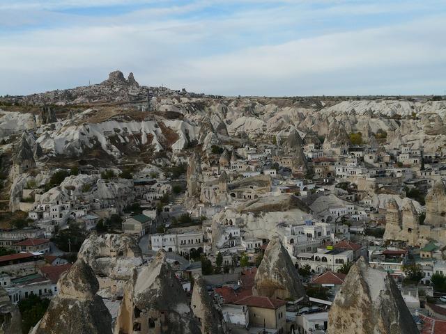 Göreme turkey cappadocia, architecture buildings.