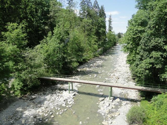 Gorge bridge river.