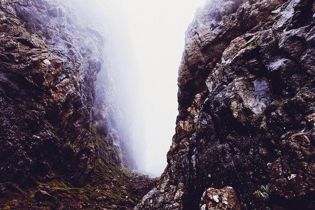 Gorge canyon mountains.
