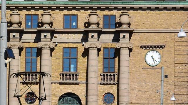 Gothenburg a historical building detail.