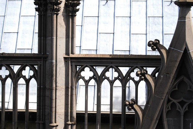 Gothic arch balustrade cologne, architecture buildings.