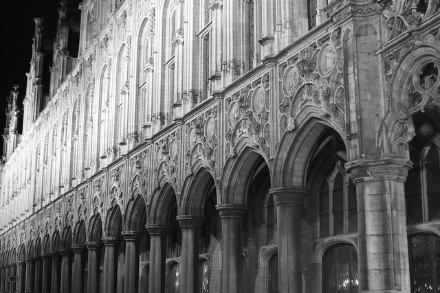 Gothic building mechelen, architecture buildings.