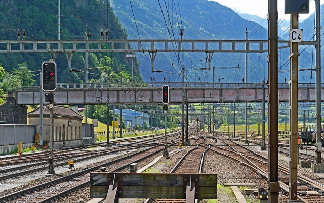 Gotthard line erstfeld exit south.