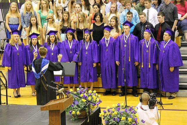 Graduation ceremony education, education.